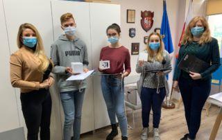 Zajecie grupowe z rozdania nagród IV edycji Ogólnopolskiej Olimpiady o Bezpieczeństwie i Obronności.