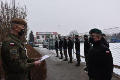 Uroczystość awansu Kadetów w ZST