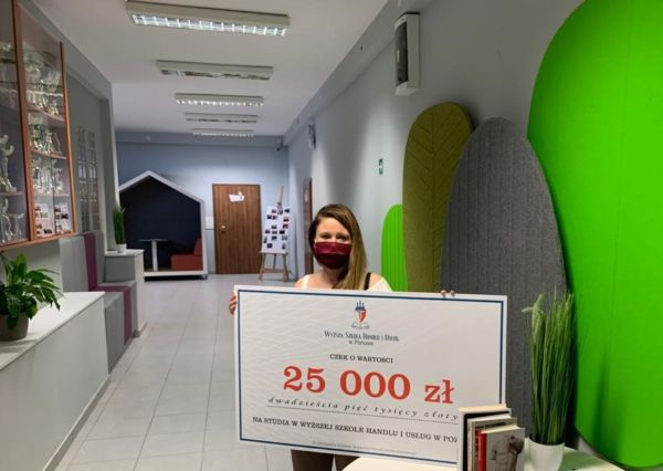 Wyższa Szkoła Handlu i Usług w Poznaniu, bon wartości bagatela 25 000 zł