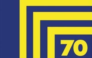 logo 70 lat spółdzielni mieszkaniowej w Śremie